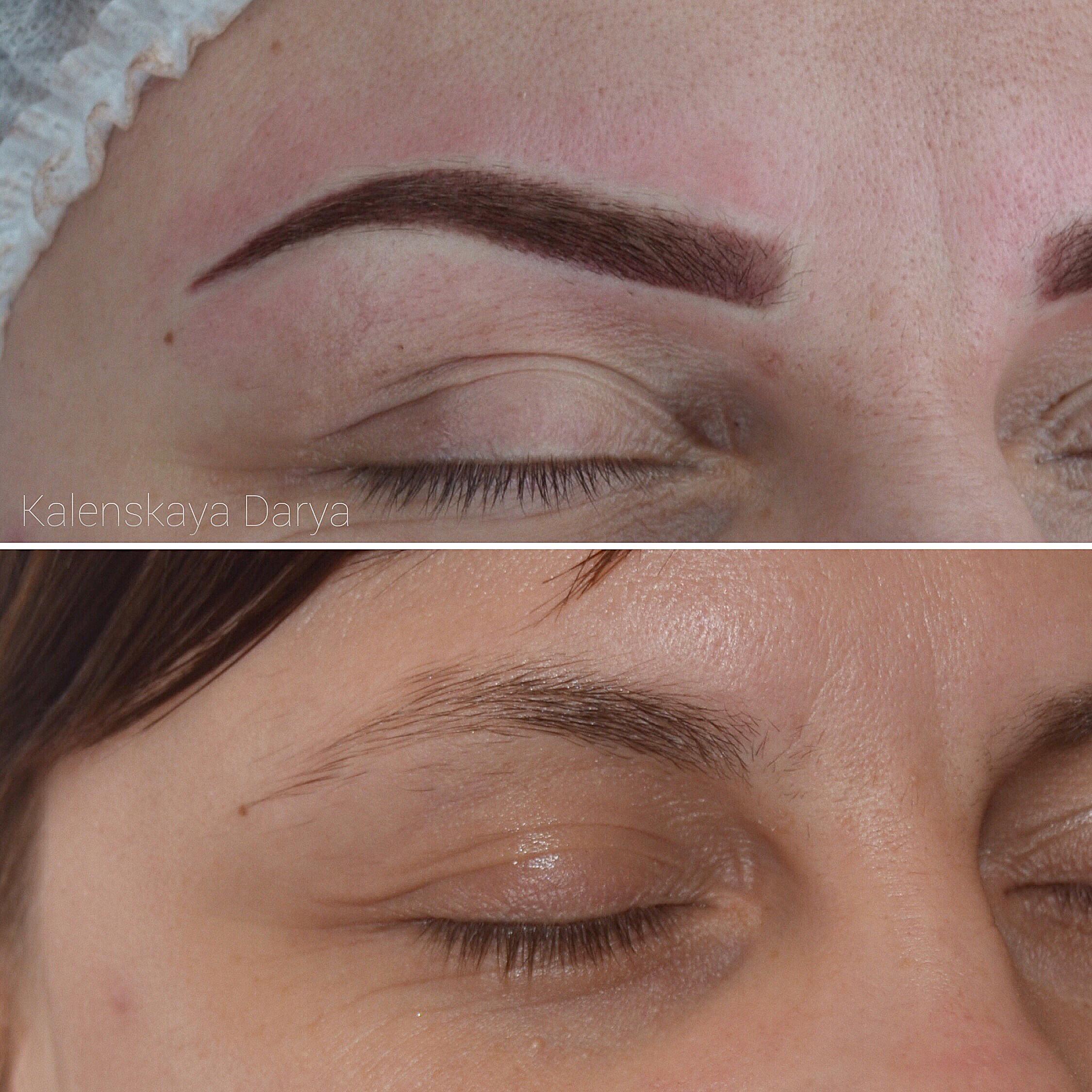Татуаж бровей – до и после процедуры