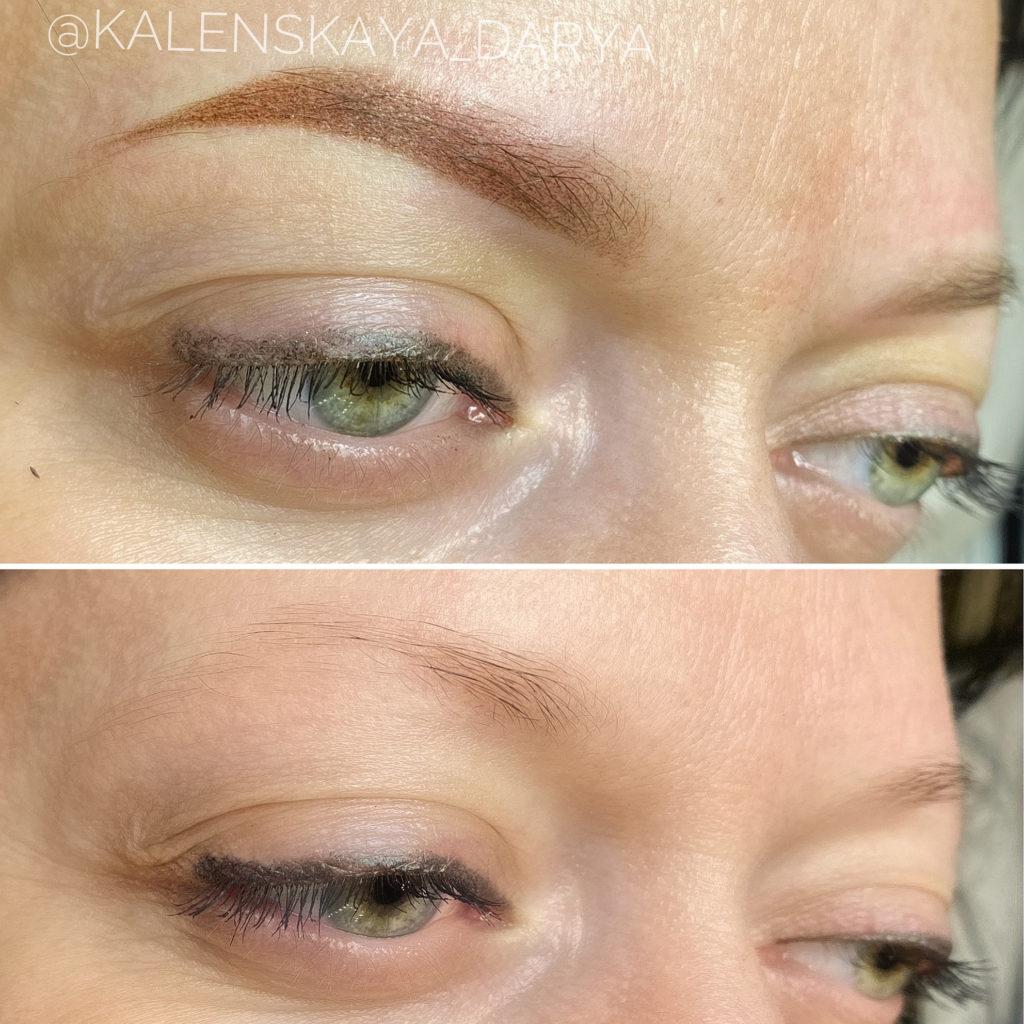 Перманентный макияж бровей после процедуры, в городе Иваново