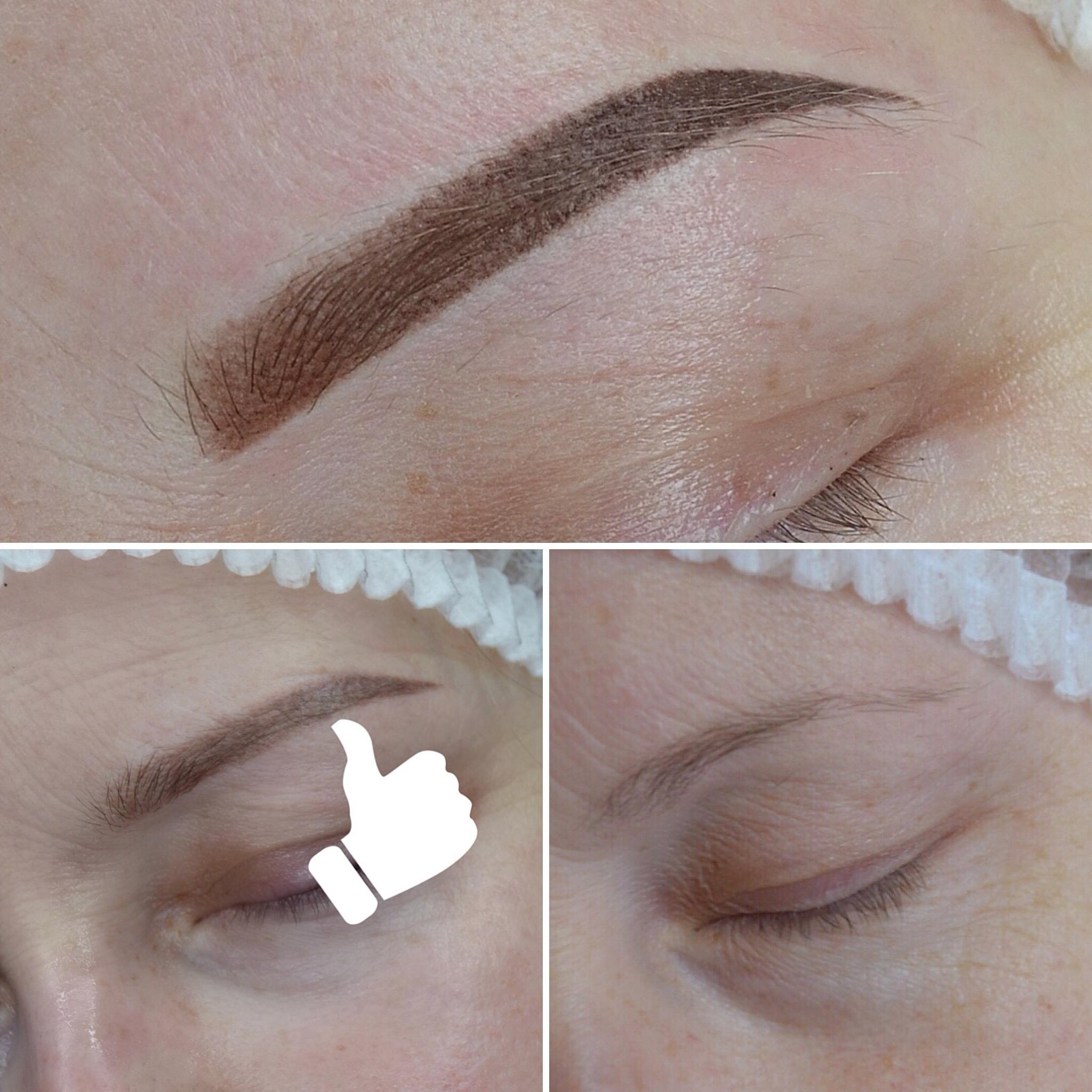 Пудровые брови: до, после процедуры и после заживления. Пудровые зажившие брови в Иванове