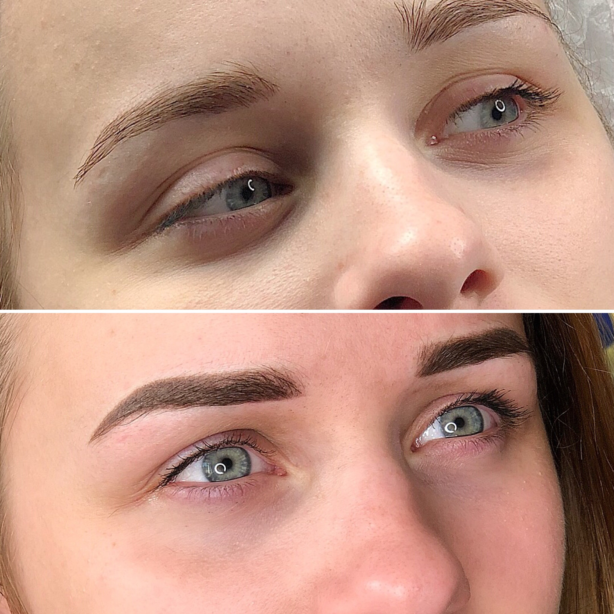 Пиксельный перманентный макияж до и после в городе Иваново