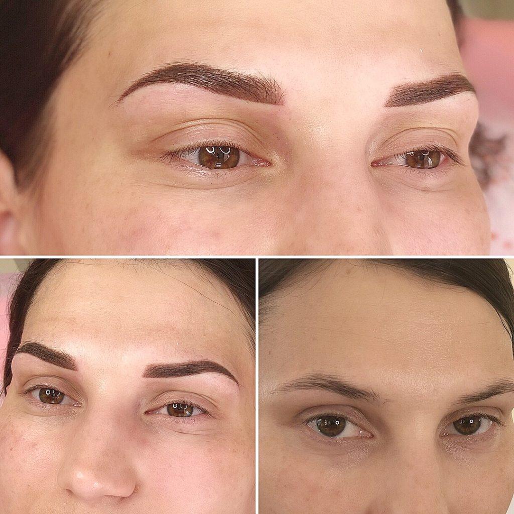 Пудровые брови в Иванове до и после процедуры